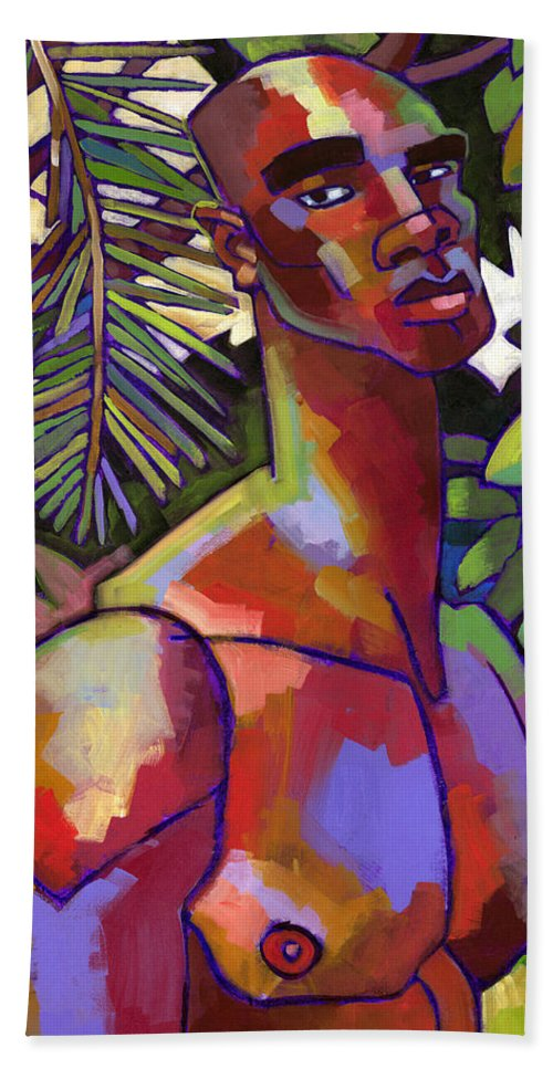 Figure Beach Towel featuring the painting African Forest by Douglas Simonson