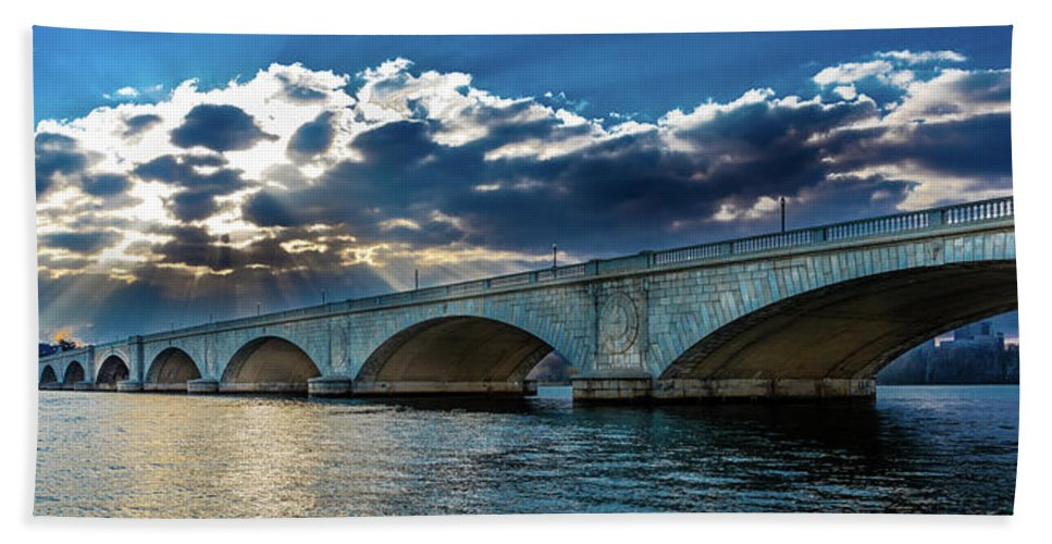 Photography Beach Sheet featuring the photograph Washington D.c. - Memorial Bridge 1 by Panoramic Images