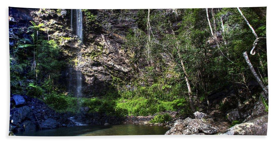 Cascade Beach Towel featuring the photograph Waterfall by Darren Burton