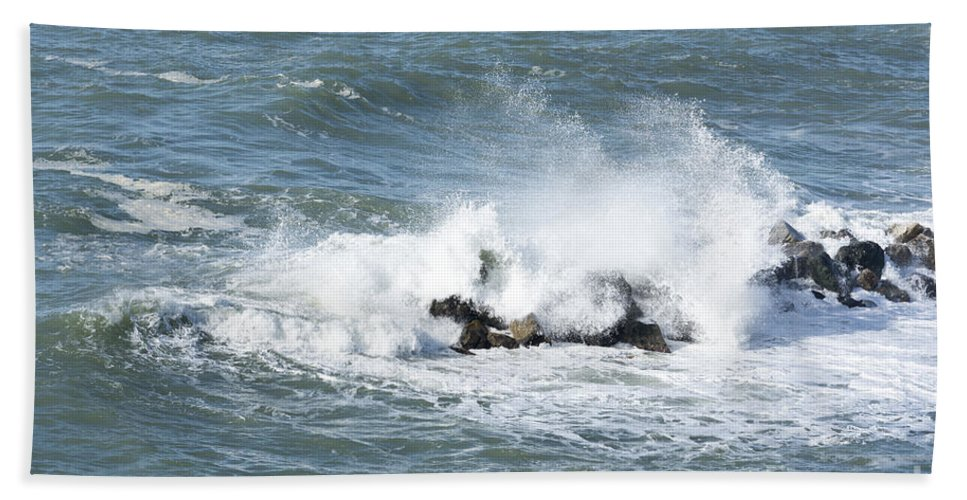 Wave Beach Towel featuring the photograph Wave by Mats Silvan