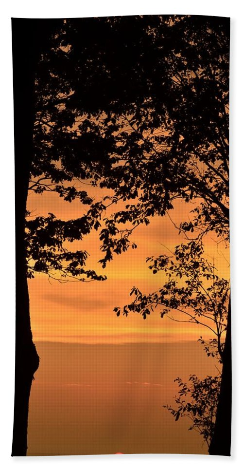When The Sun Goes Down Beach Towel featuring the photograph When The Sun Goes Down by Maria Urso