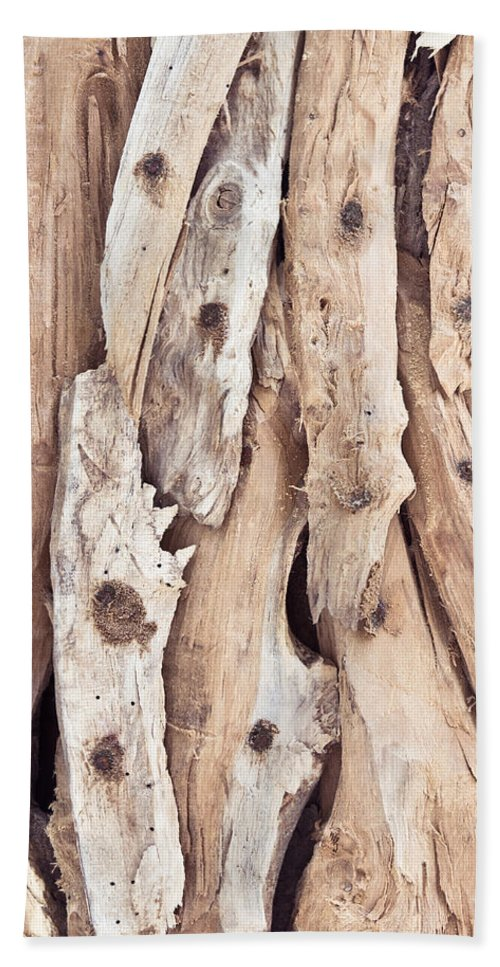 Abstract Beach Towel featuring the photograph Wood Abstract by Tom Gowanlock