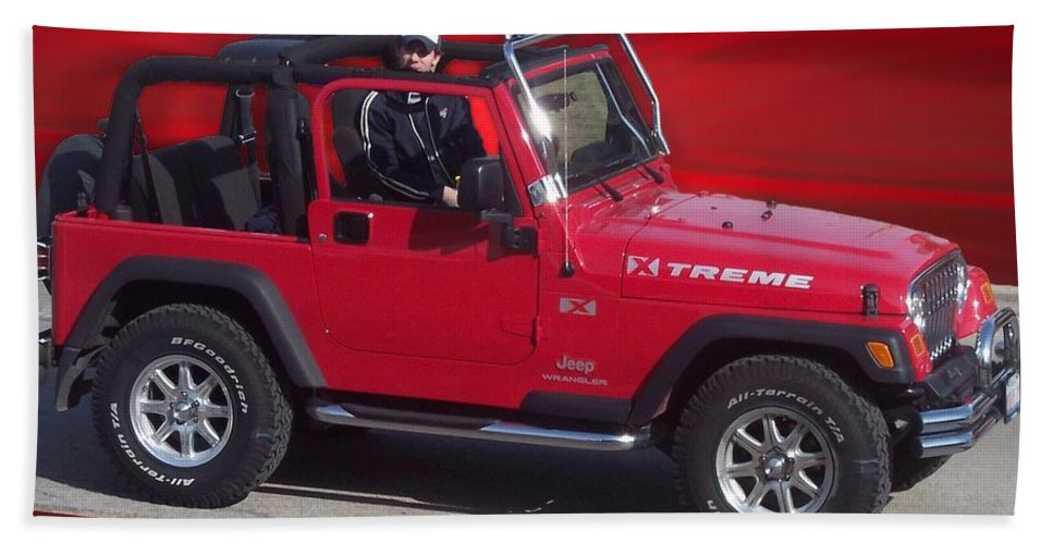 Xtreme Jeep Beach Towel featuring the photograph Xtreme Jeep by Thomas Woolworth
