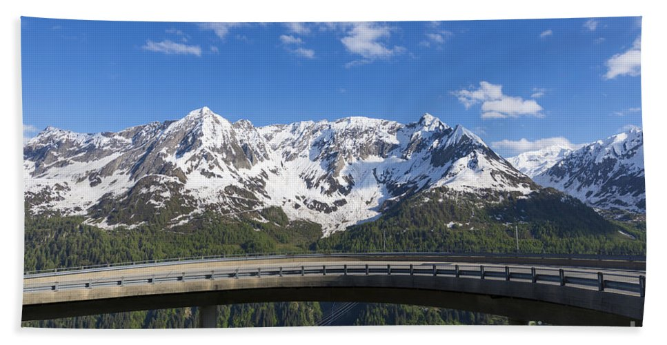 Mountain Beach Towel featuring the photograph Mountain Road by Mats Silvan