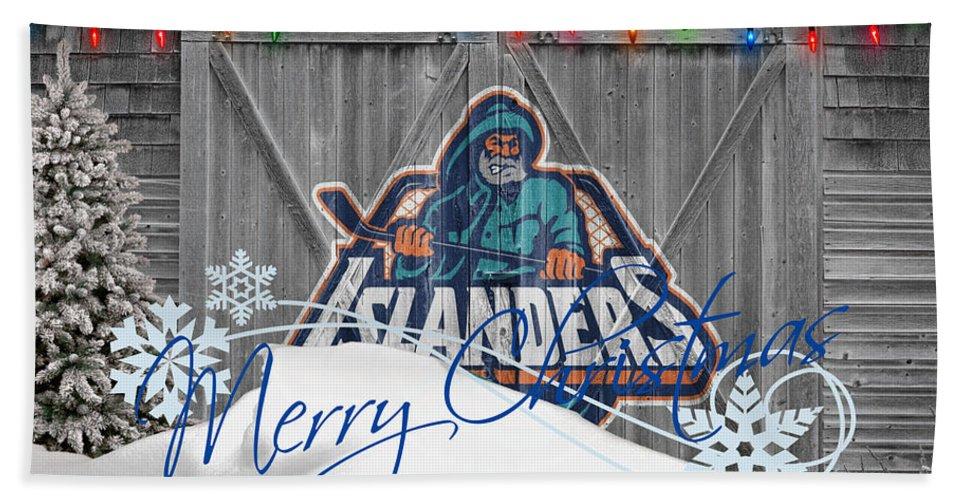 Islanders Beach Towel featuring the photograph New York Islanders by Joe Hamilton