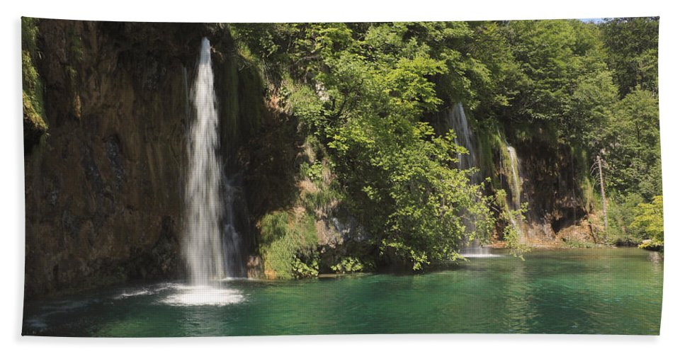 Croatia Beach Towel featuring the photograph Plitvice Lakes National Park Croatia by Ivan Pendjakov