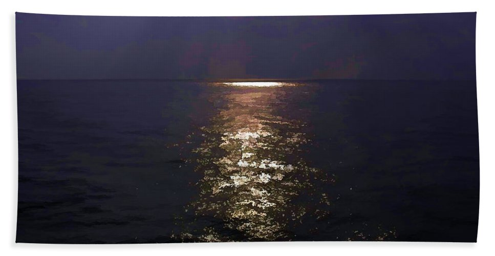Arabian Sea Beach Towel featuring the digital art Rays Of Light Shimering Over The Waters by Ashish Agarwal