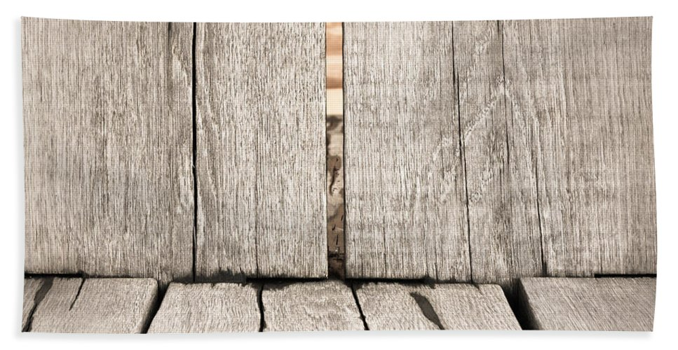 Abstract Beach Towel featuring the photograph Wood Background by Tom Gowanlock