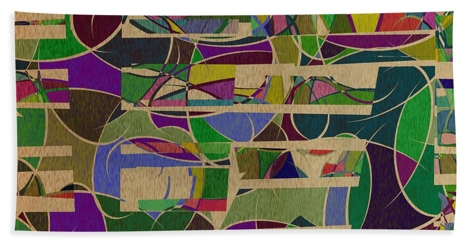 Abstract Beach Towel featuring the digital art 1023 Abstract Thought by Chowdary V Arikatla