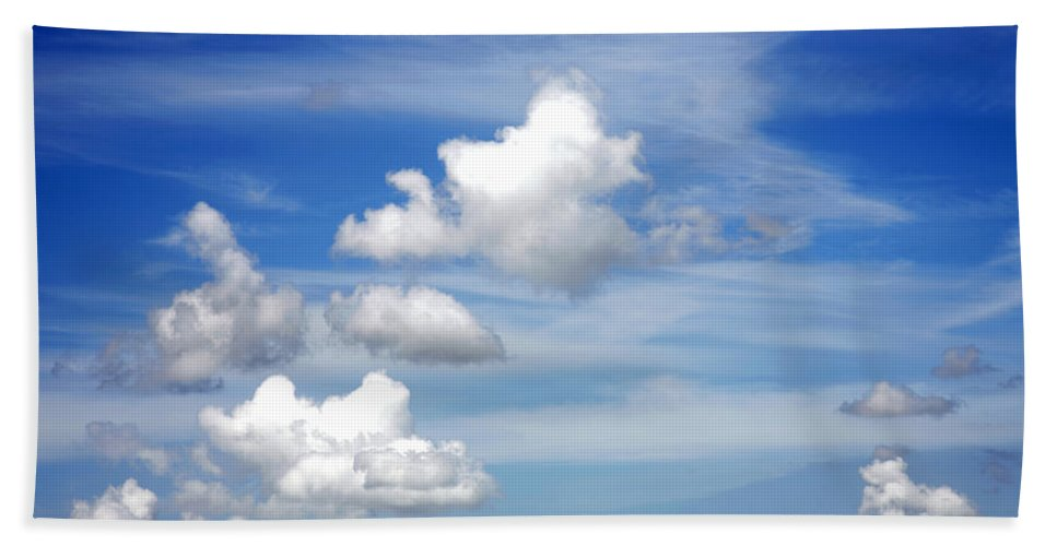 Sky Beach Towel featuring the photograph Clouds by Les Cunliffe
