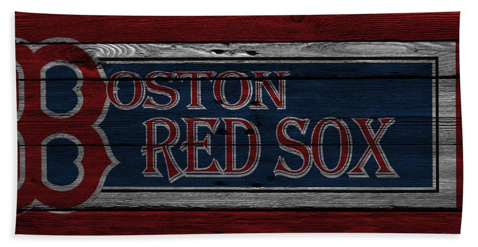 Red Sox Beach Towel featuring the photograph Boston Red Sox by Joe Hamilton