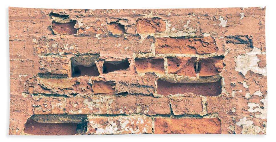 Absent Beach Towel featuring the photograph Brick Wall by Tom Gowanlock