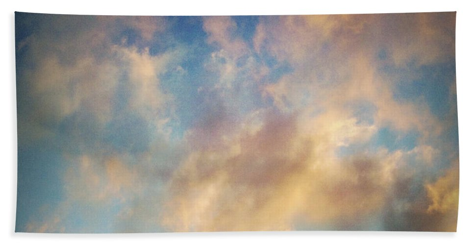 Skies Beach Towel featuring the photograph Clouds by Les Cunliffe