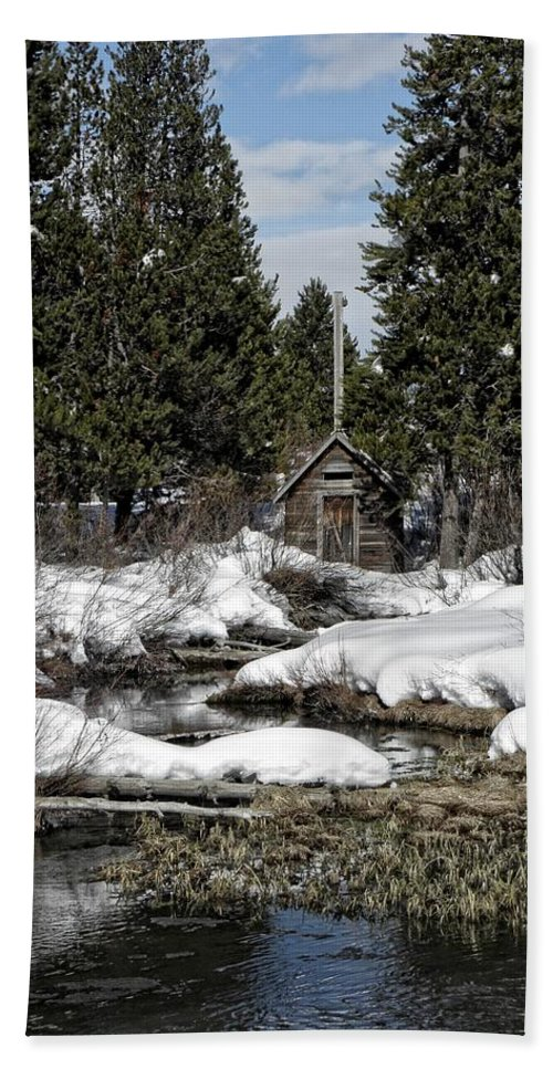 Shed Beach Towel featuring the photograph Island Park by Image Takers Photography LLC