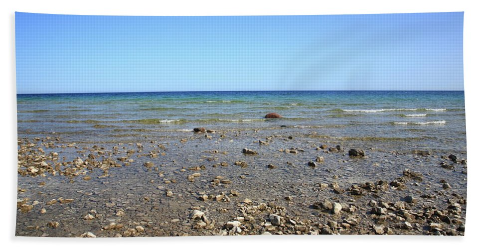 America Beach Towel featuring the photograph Lake Huron by Frank Romeo