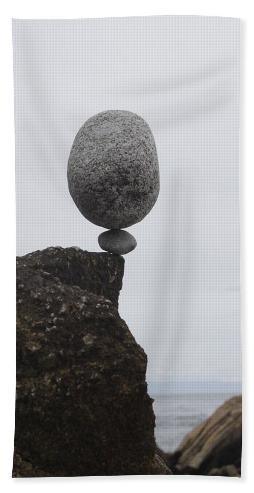 Zen Rocks Beach Towel featuring the photograph Untitled by Brad Wilk
