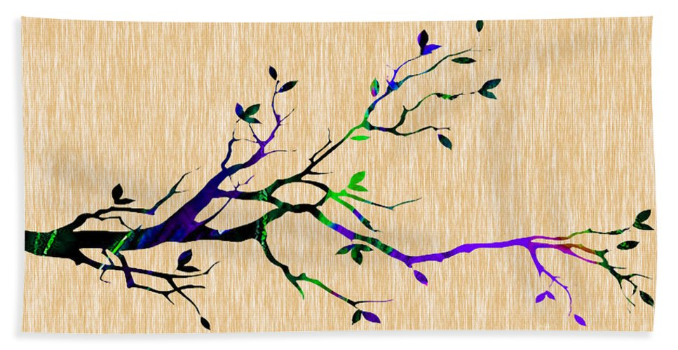 Tree Beach Towel featuring the mixed media Tree Branch Collection by Marvin Blaine