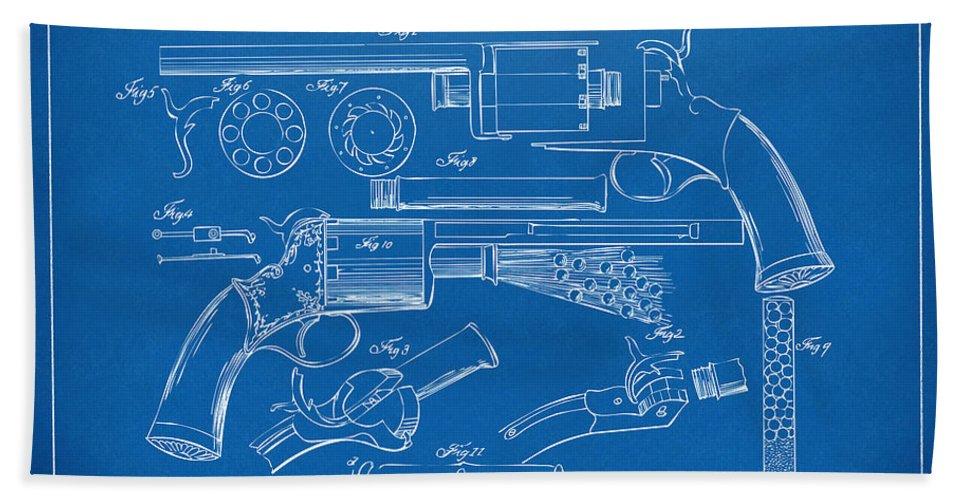1856 lemat revolver patent artwork blueprint beach sheet for sale by lemat beach sheet featuring the digital art 1856 lemat revolver patent artwork blueprint by nikki marie malvernweather Images