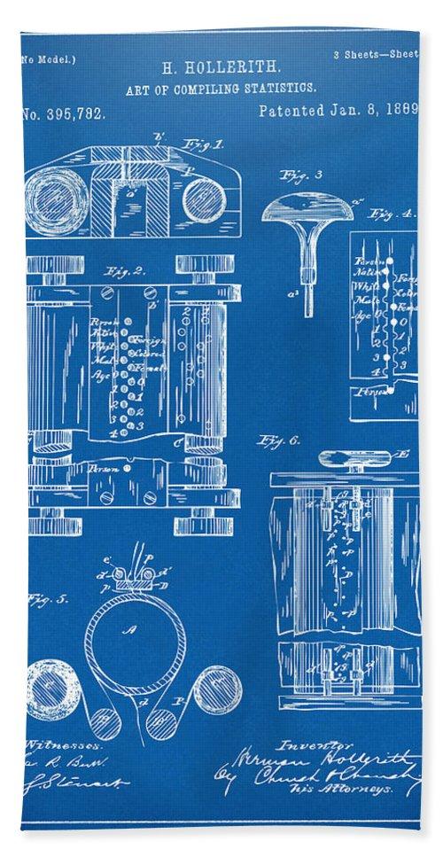 1889 first computer patent blueprint beach towel for sale by nikki first computer beach towel featuring the digital art 1889 first computer patent blueprint by nikki marie malvernweather Choice Image