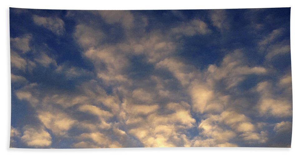 Blue Beach Towel featuring the photograph Clouds by Les Cunliffe