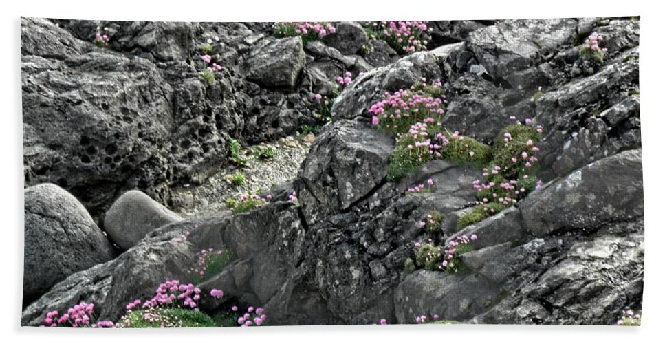 Yachats Beach Towel featuring the photograph Yachats Oregon by Image Takers Photography LLC