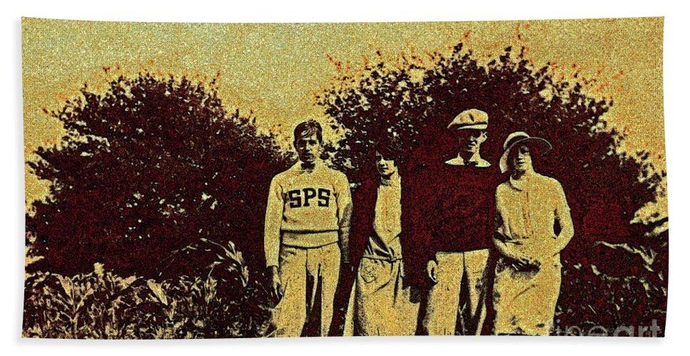 First Star Beach Towel featuring the photograph 1920s Golf by First Star Art