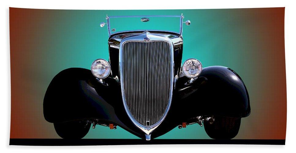 Car Beach Towel featuring the photograph 1934 Ford Phaeton Convertible by Jim Carrell
