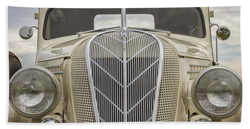 Antique Beach Towel featuring the photograph 1936 Hudson Terraplane Truck by Jack R Perry