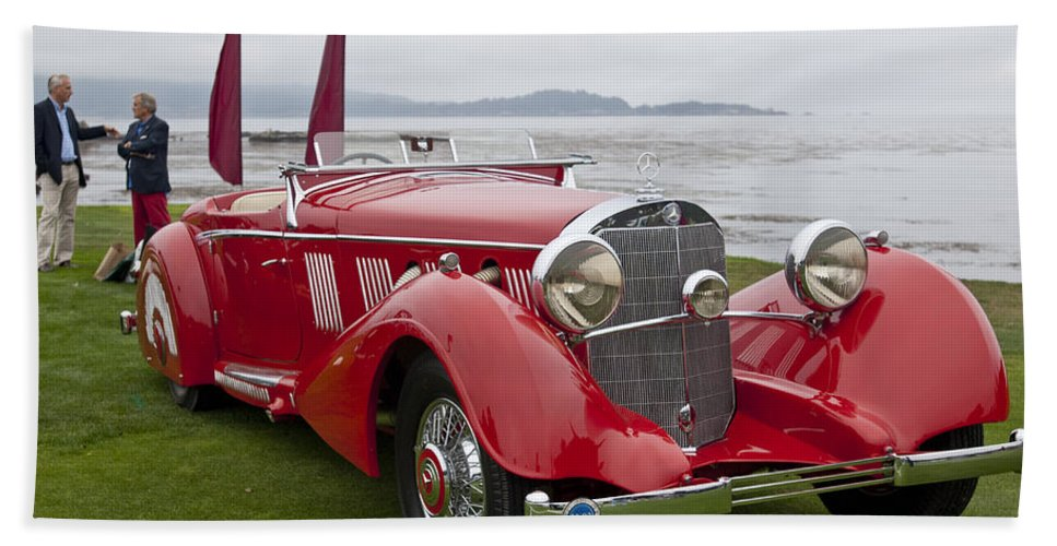 1936 Mercedes Benz 540k Mayfair Special Roadster Beach Towel
