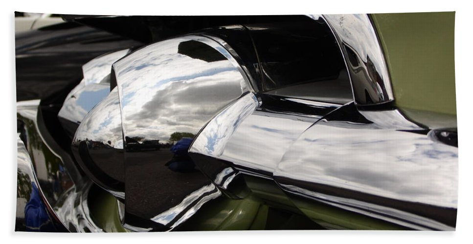 Cars Beach Towel featuring the photograph Old Car Grille by Karl Rose