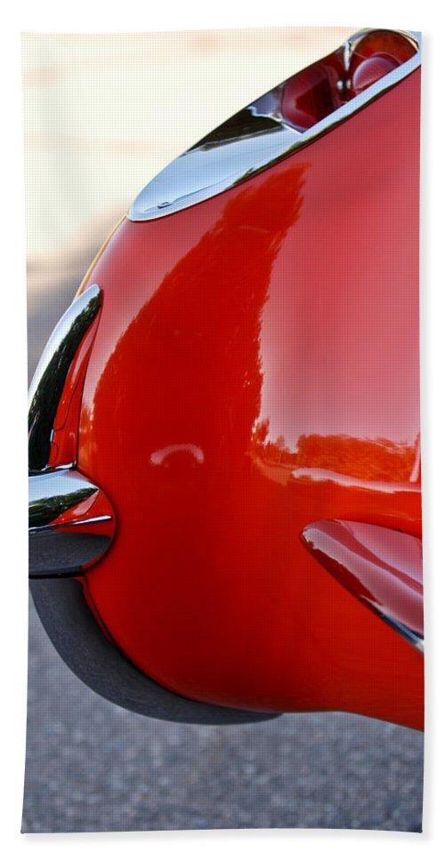 1957 Chevrolet Corvette Beach Towel featuring the photograph 1957 Chevrolet Corvette Taillight by Jill Reger