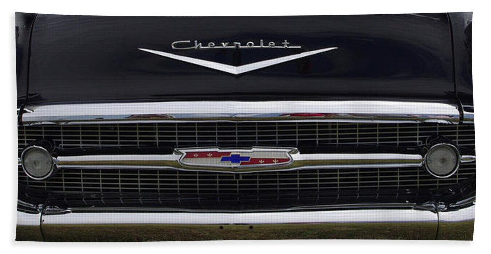 1957 Chevrolet Beach Towel featuring the photograph 1957 Chevy Del Ray by James C Thomas