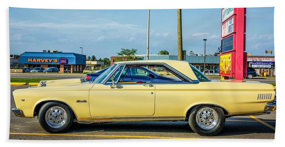 Bolton Beach Towel featuring the photograph 1965 Plymouth Satellite by Steve Harrington