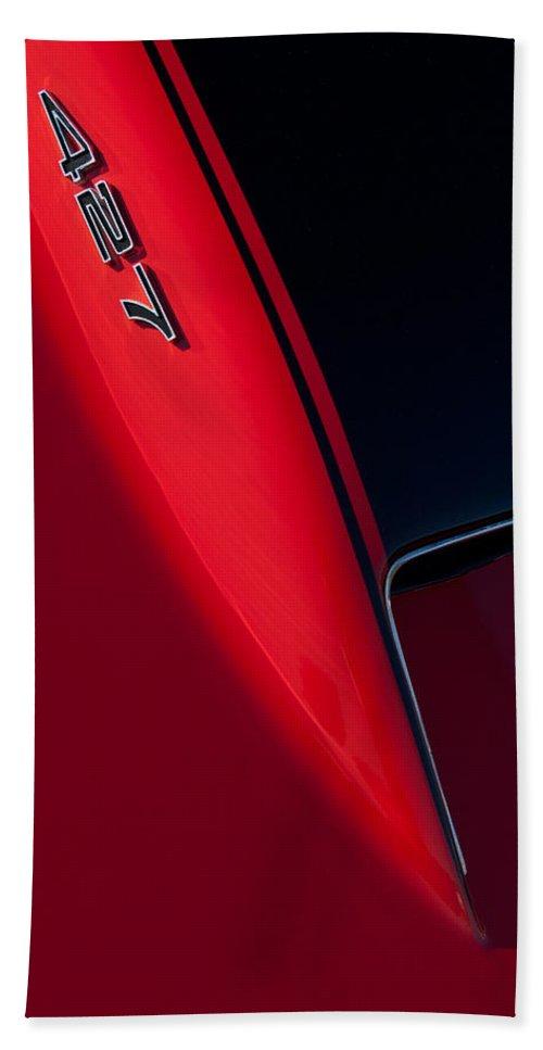 1967 Chevrolet Corvette 427 Beach Towel featuring the photograph 1967 Chevrolet Corvette 427 Emblem by Jill Reger