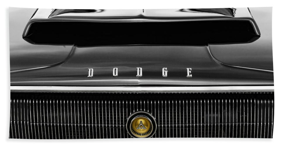 1966 Beach Towel featuring the photograph 1967 Dodge Charger by Gordon Dean II