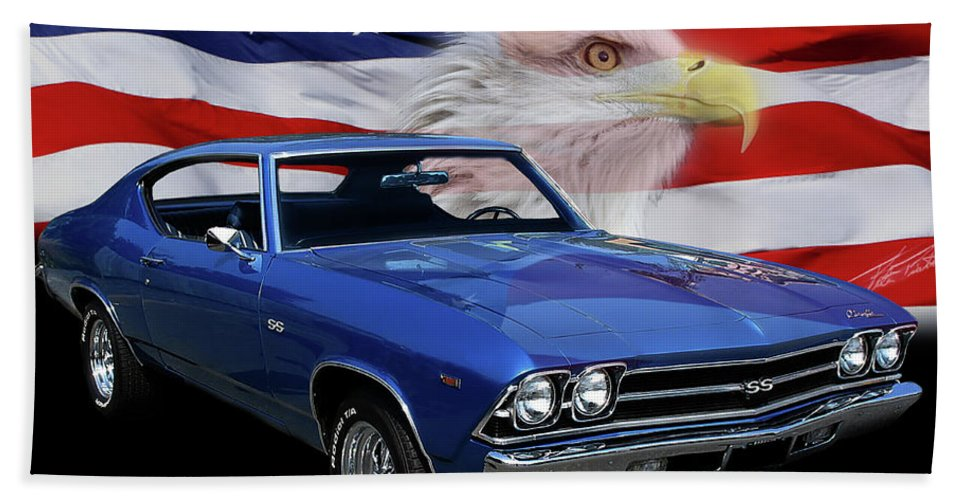 1969 Chevelle Ss Beach Towel featuring the photograph 1969 Chevelle Tribute by Peter Piatt