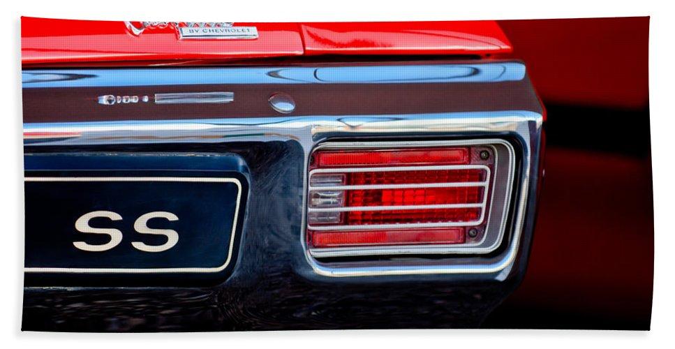 d029d438 1970 Chevrolet Chevelle Ss Convertible Taillight Emblem Beach Sheet for Sale  by Jill Reger
