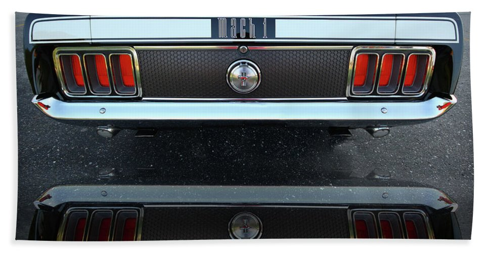 1973 Beach Towel featuring the photograph 1970 Ford Mustang Mach 1 by Gordon Dean II