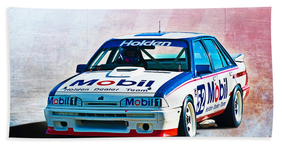 1987 Beach Towel featuring the photograph 1987 Vl Commodore Group A by Stuart Row