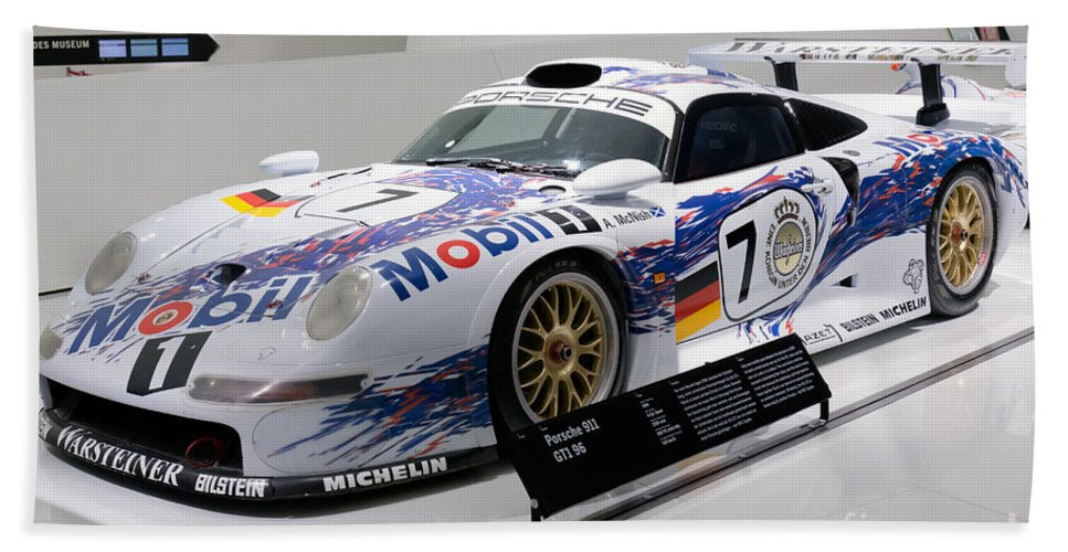 3d Beach Towel featuring the photograph 1998 Porsche 911 Gt1 by Paul Fearn