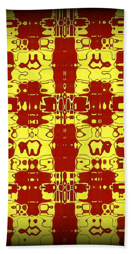 Original Beach Towel featuring the painting Abstract Series 8 by J D Owen