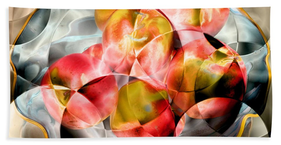 Apples Beach Towel featuring the photograph Apple Bowl by David Pantuso