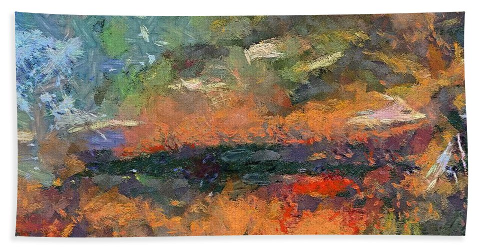 Dawn Beach Towel featuring the painting At Dawn by Dragica Micki Fortuna