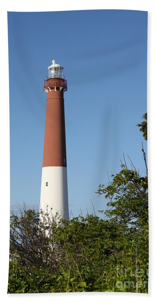 Lighthouse Beach Towel featuring the photograph Barnegat Lighthouse by Christiane Schulze Art And Photography