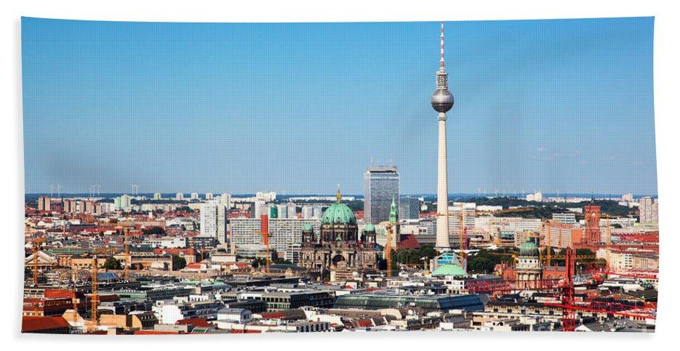 Berlin Beach Towel featuring the photograph Berlin Panorama by Michal Bednarek