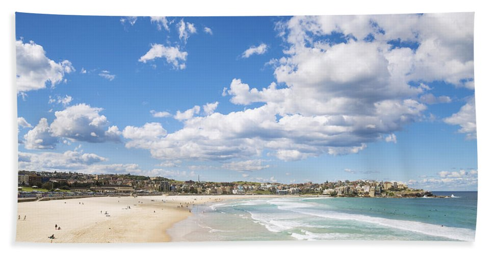 Architecture Beach Towel featuring the photograph Bondi Beach In Sydney Australia by Jacek Malipan