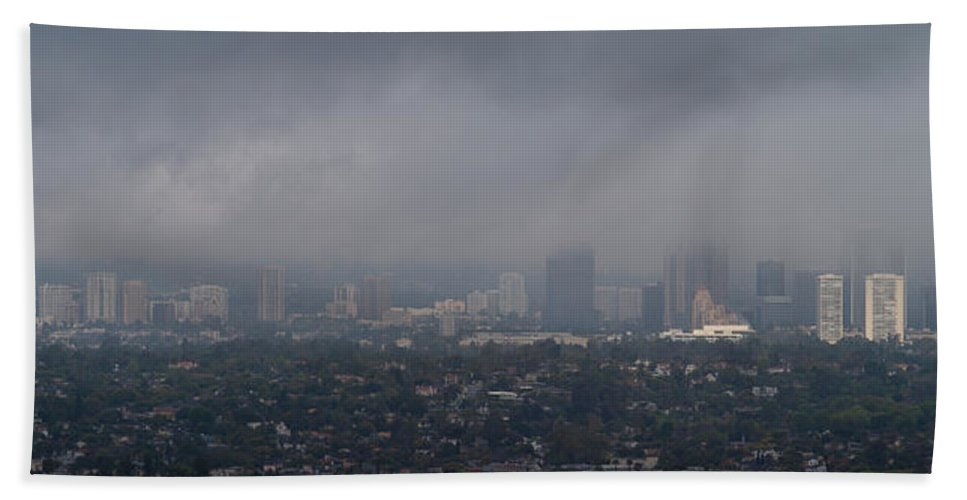 Photography Beach Towel featuring the photograph Century City, Wilshire Corridor, Los by Panoramic Images