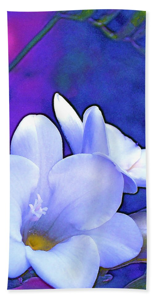 Flowers Beach Towel featuring the photograph Color 4 by Pamela Cooper