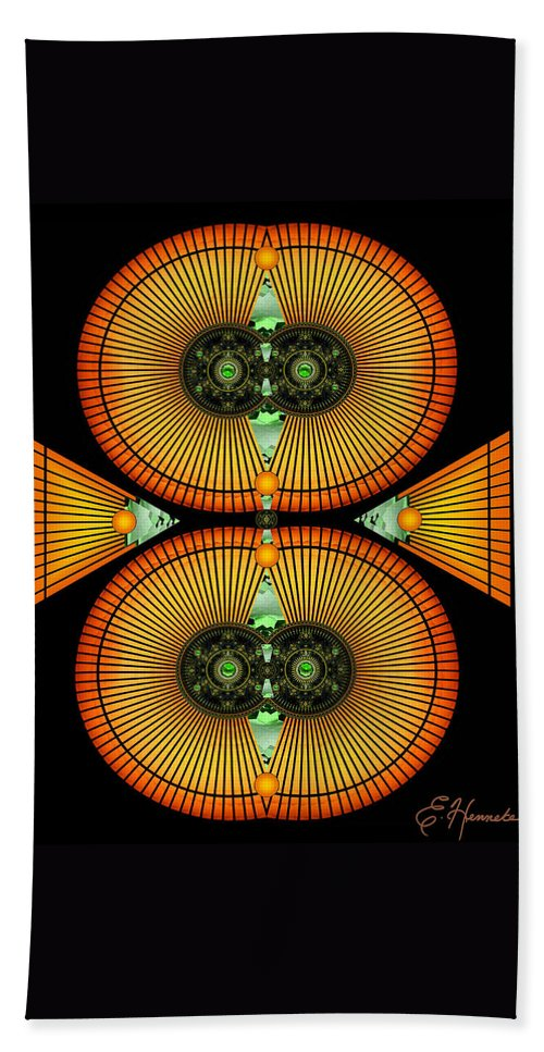 Cosmic Mitosis Beach Towel featuring the mixed media Cosmic Mitosis by Ellen Henneke