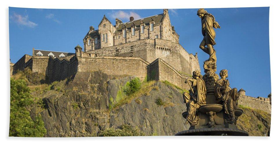 Artwork Beach Towel featuring the photograph Edinburgh Castle by Brian Jannsen